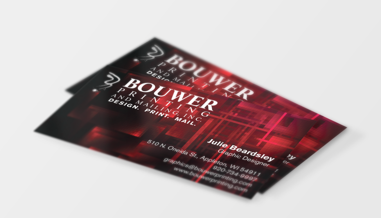 Key of Light Design » Bouwer Printing Business Card